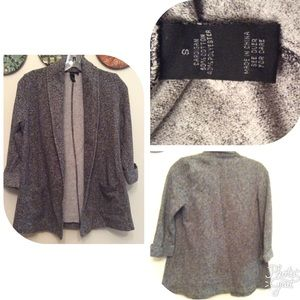 Byer🌹Open Tweed Boyfriend Jacket Cardigan🌹Sz.S